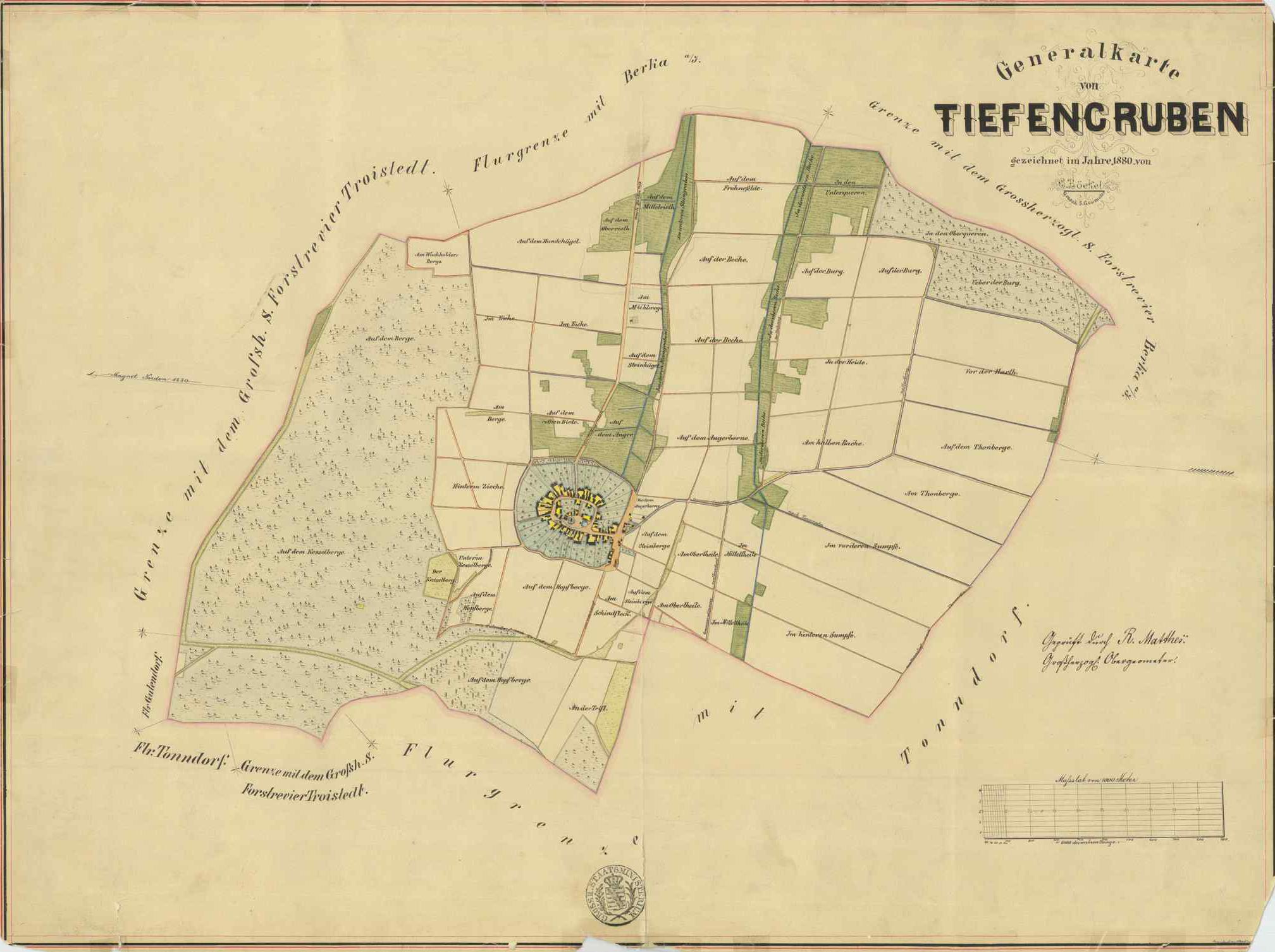 Umgebung Tiefengruben um 1880