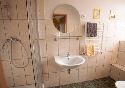 Ferienwohnung Gasthaus zum Rundllng,Badezimmer