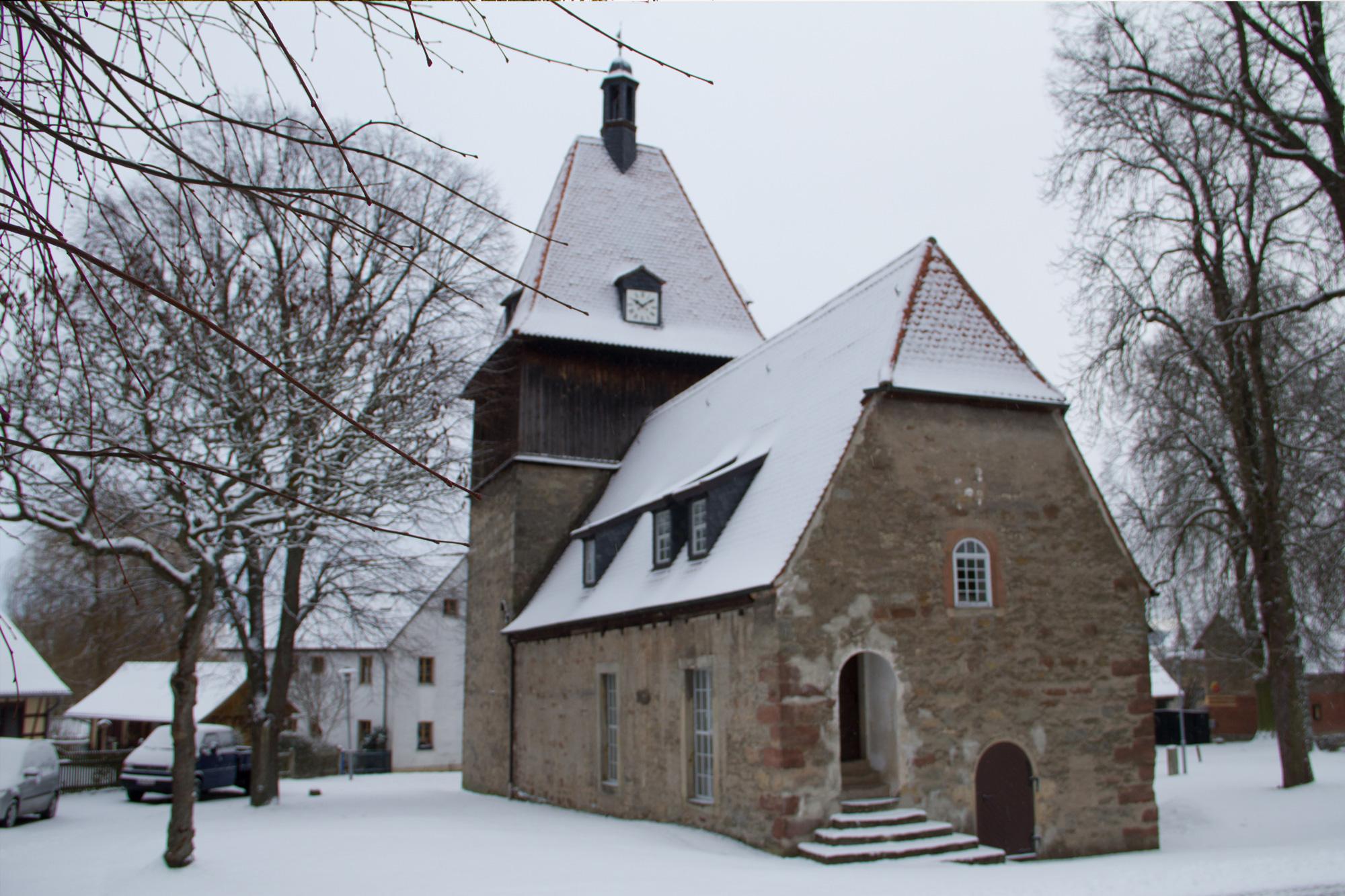 St. Nikolaus Kirche im Winter