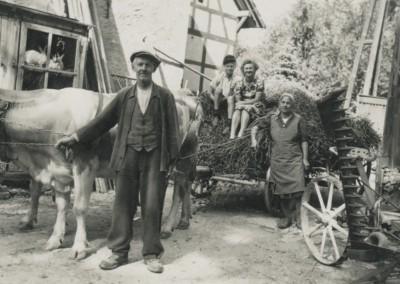 Alwin Rauch, Helmut und Edelgard Leuthardt mit Lydia Rauch um 1950